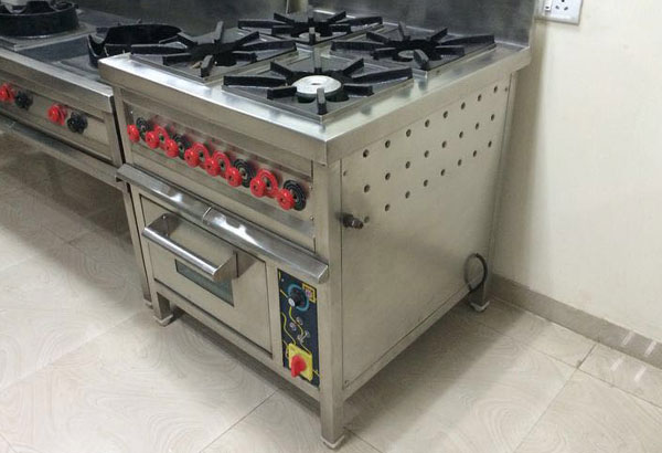 4 Burner Gas Range Kitchen Equipment